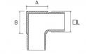 Codo cuadrado CT220 AISI316 plano