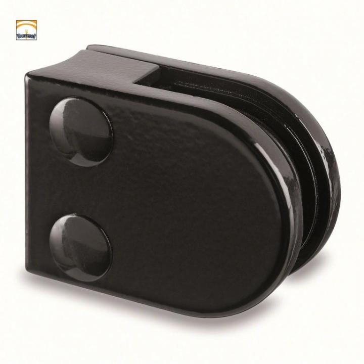 Pinzas Zamac Negro Modelo 20 para barandilla de vidrio