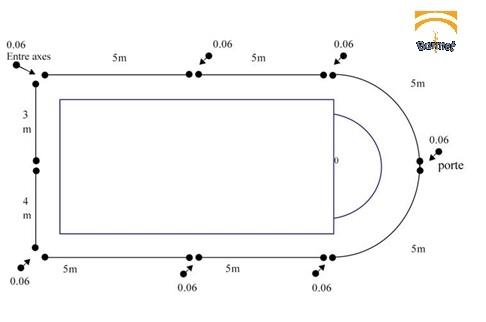 Ejemplo plano de vallado de valla de piscina for Planos de piscinas temperadas