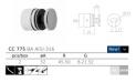 soporte de inoxidable para vidrio CC-775 espejo Vidrio 8-21.52mm q-railing comenza barmet