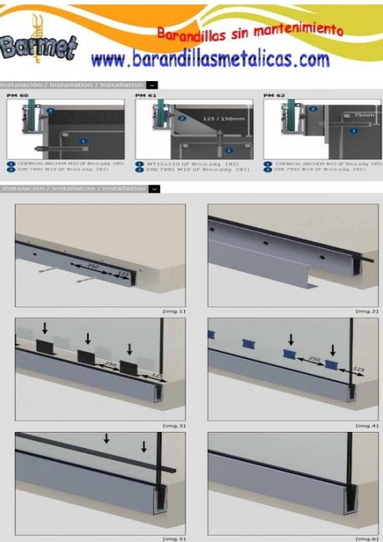 sistema de montaje de perfil en U SV-1302
