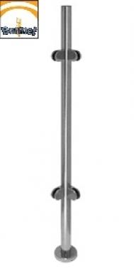 Poste de acero inoxidable AISI304 espejo comenza barmet cerrajeria esquinero