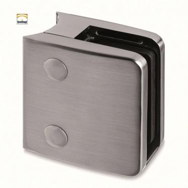 Pinza para tubo de D48,3mm Zamac apariencia de acero inoxidable