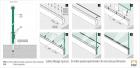 Sistema de instalación de la barandilla Easy Glass Slim montaje superior 6904
