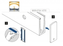 Esquema de colocación tapa de aluminio o Zamac