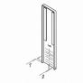 plano de tapa de aluminio para escalera