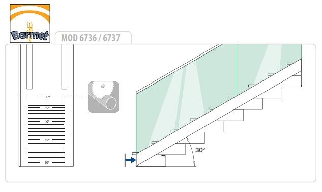 Tapa perfil easy glass slim 6736 aluminio para escaleras - Barandillas de aluminio ...
