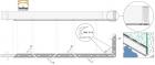sistema de drenaje de la barandilla Easy Glass Slim