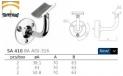 soporte de acero inoxidable para pasamanos AISI 304 q-railing barmet comenza estebro plano