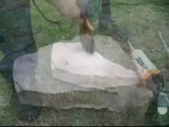 Aplicación del taco quimico en piedra