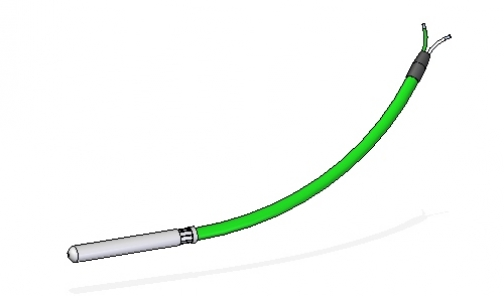 Termopar rígido con salida cable