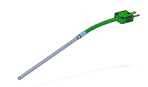 Termopar encamisado con cable de compensación