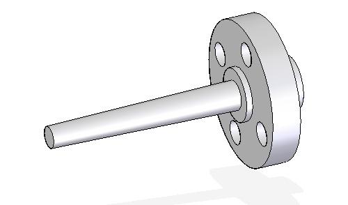 Termopozo barra perforada con brida