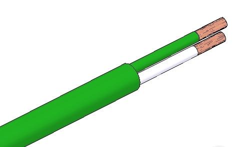Cable de compensación termopar, PVC-PVC