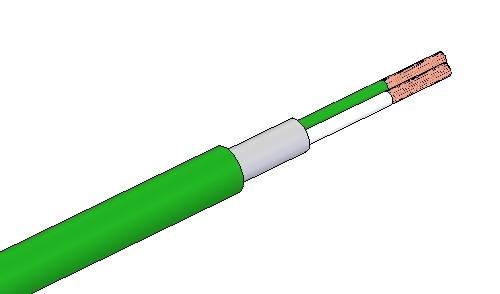Cable de compensación termopar, PTFE-MALLA-PTFE