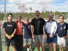 El equipo del club de tenis Catarroja el día de lafinal
