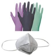 mascarilla kn95 ffp2 guantes examen desechables nitrilo latex