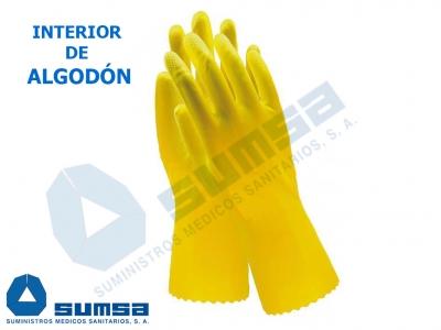 guante latex algodon laboratorio quimico hogar domestico