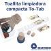Toallitas TO-TAB limpiadoras en tableta mojar agua