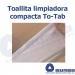 Toallitas TO-TAB limpiadoras en tableta detalle pulpa natural