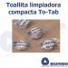Toallitas TO-TAB limpiadoras en tableta INDIVIDUAL EMPAQUETADA BOLSA