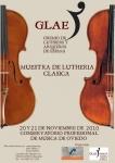 Mondern violin making Showroom. Organized by GLAE in Oviedo