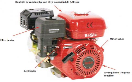 Motor 6,5hp/196cc