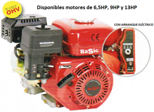MOTOR ARRANQUE ELECTRICO 6,5HP
