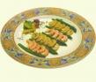 Ensalada de espárragos de Huétor Tájar con láminas de champiñon y langostinos al sabor de alcaparras