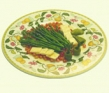 Ensalada de espárragos trigueros, granada, queso fresco y miel de abeja