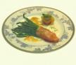 Manojitos de espárragos trigueros envueltos en salmón marinado al eneldo