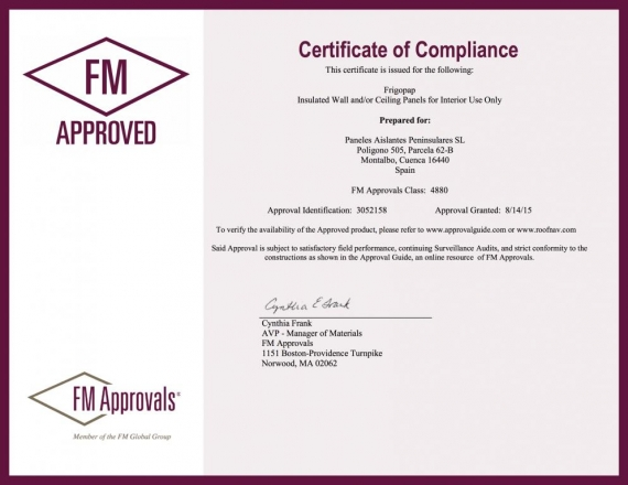 Certificación FM Approved