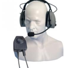 Audífono de diadema con micrófono