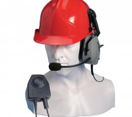 Micrófono con auricular para casco