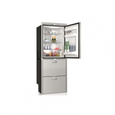 Refrigerador en el compartimiento superior y...