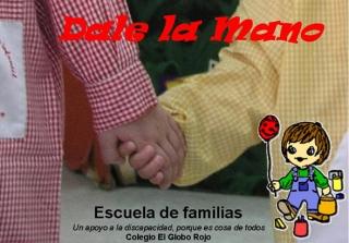 """Comunicación para el Segundo Encuentro en este curso, de la Escuela de Familias: """"Dale la mano""""  Miércoles 26 de enero a las 18:30 horas."""