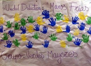 ¡Manos frías!...¡Manos de colores!