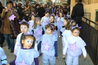 El Globo Rojo desfiló al completo con alumnos, familias y educadores