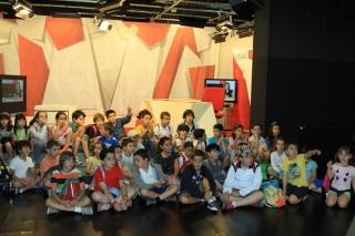 Los chicos del Campus visitan USALTV: talleres de televisión