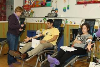 Donación de sangre en  EL GLOBO ROJO