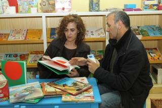 La responsable de la libreria de Musarañas en Radio Espacio El Globo Rojo