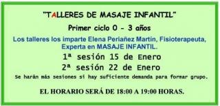 ESCUELA DE PADRES: Talleres de masaje infantil en El Globo Rojo