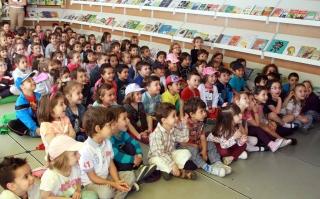 Los alumnos de El Globo Rojo en la Feria del Libro