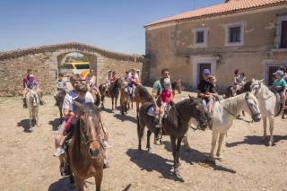 Los alumnos del Campus a caballo