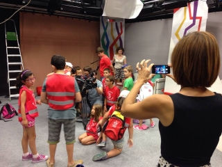 Una experiencia en la TV USAL para los chicos del Campus
