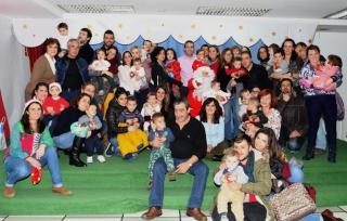 Papá Noel visita a los niños de El Globo Rojo