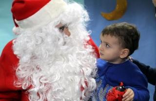 Papá Noel visita El Globo Rojo