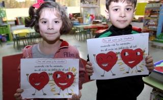 Dibujamos `corazones amigos´ por San Valentín