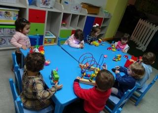 En el aula Montessori