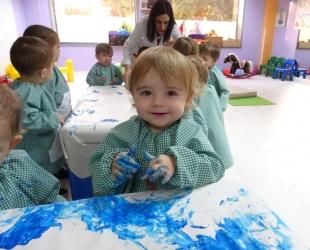 Pintamos con nuestas manos